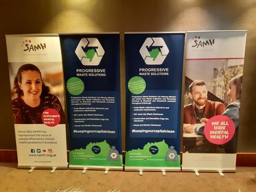 Sparkle and Shine SAMH PWS Pop up Banners
